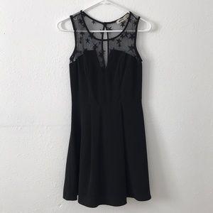 sheer stars black dress